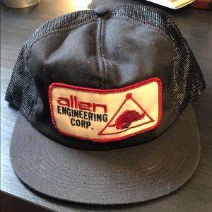 Vintage Black Snapback Hat